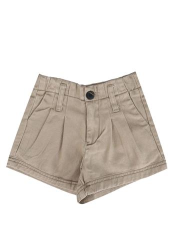 FOX Kids & Baby brown Khaki Woven Shorts 00FE8KA8C4B711GS_1