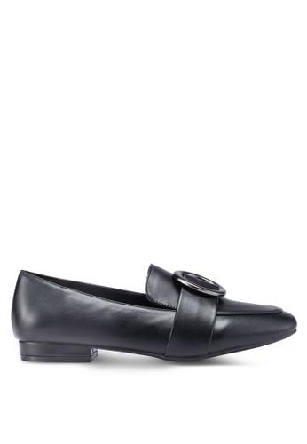 Bata 黑色 金屬飾懶人樂福鞋 D5E93SH3DDEF09GS_1