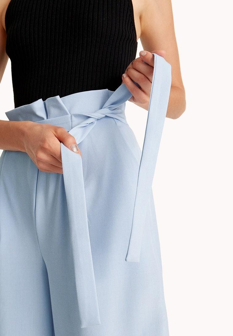 Waist Blue Pleated Blue Pomelo Trousers Tie UqEzBSwa