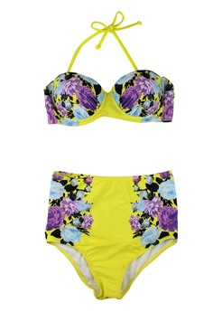 Retro Floral High Waist Swimwear
