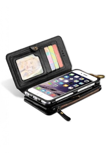 Nadjames black Wallet Pouch Case With  Card Slot For Apple iPhone 7G                          NA782AC94LKRPH_1