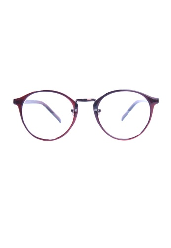 Kyfer's Eyewear & Essentials brown Oversize Rounded Eyewear KY376AC62KAFSG_1
