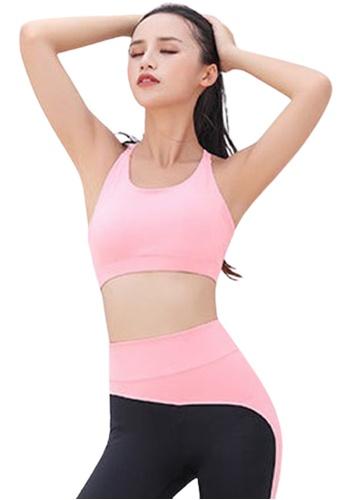 Trendyshop pink Cross Straps Yoga Fitness Sports Bras 34D33US0A4ECE5GS_1
