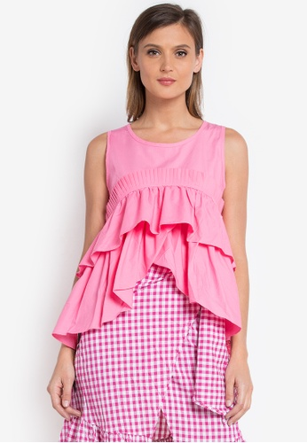 Spring Fling pink Sleeveless Layered Top SP673AA0KI4JPH_1