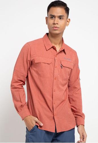 Columbia orange Irico Men's Long Sleeve Shirt 805BCAAA2841C5GS_1
