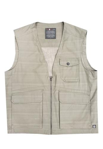 East Pole green Men's Outdoor 6 Pockets Spring Summer Vest 3A89AAA5AA5532GS_1