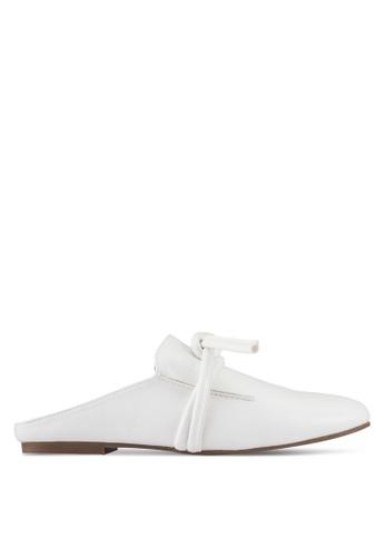 ZALORA white PU Slippers 6F164ZZB646B02GS_1