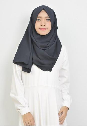 Jual Vervessa Kirana Khimar Pashmina Instan Hijab Syari Navy Original Zalora Indonesia