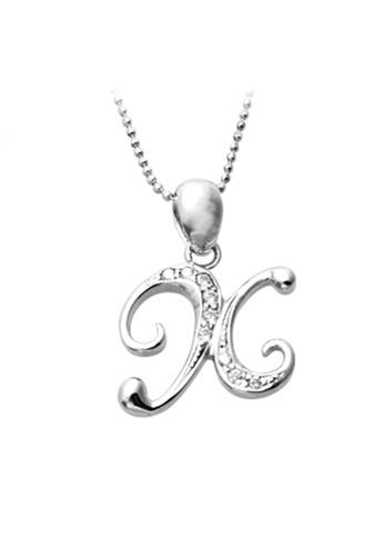 "The LoveMark silver Capital ""X"" Necklace TH516AC22ZNDPH_1"