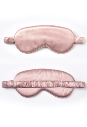 Moody Mood pink 22 Momme Mulberry Silk Sleep Eye Mask・Blush 76045BE392A897GS_1