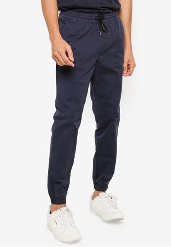 Jack & Jones navy Plain Jogger Pants 53037AA4F550DEGS_1