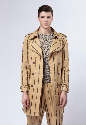 Lesprit causeway bayife8 x Daniel Wong。荊棘經典風衣外套-03672-卡其色, 服飾, 外套
