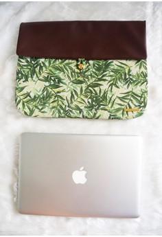Zuri Laptop Sleeve - Green Foliage