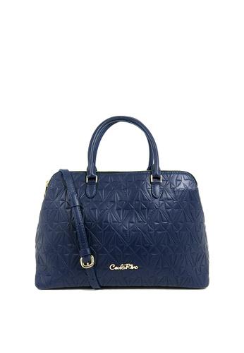 bc2d0a7c03a0 Buy Carlo Rino Carlo Rino 0304332-001-13 Top-handle bag (Blue ...