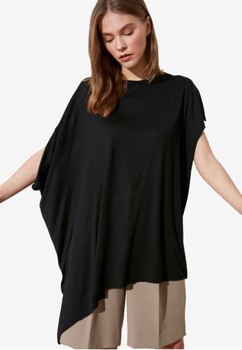Trendyol black Bat Sleeve Knit Tunic ABAA9AA1E2D0E0GS_1