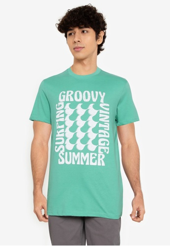 Springfield green Summer T-Shirt F865FAA65BF162GS_1