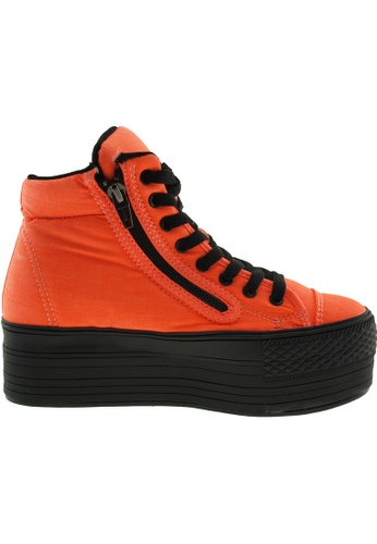 Maxstar orange Maxstar Women's C50 Padded Lining Hidden Heel Platform Canvas Sneakers US Women Size MA164SH08PQDSG_1