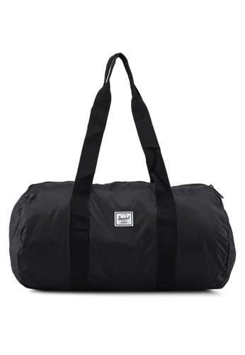 Herschel black Packable Duffle Bag 4F1CEAC2D5A9E9GS_1