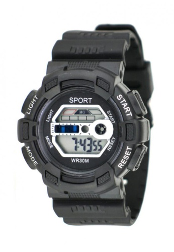 Dooka black Multifunction Sports Watch WR30M DO079AC71MIEPH_1