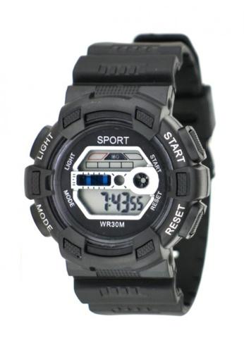 Dooka black Multifunction Sports Watch WR30M DO079AC71MIEPH_1