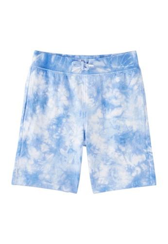 Du Pareil Au Même (DPAM) white and blue White Tie Dye Bermuda Shorts FDECDKA1284706GS_1