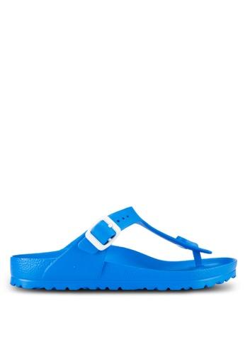 Birkenstock blue Gizeh EVA Sandals BI090SH08JOXMY_1