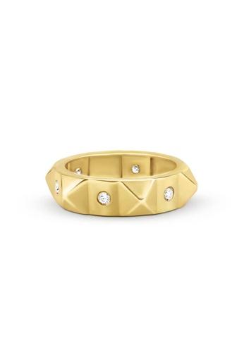 Aquae Jewels yellow Ring Rich & Bold Peaks & Diamonds – 18K Gold - Yellow Gold FDF26AC7D392B1GS_1