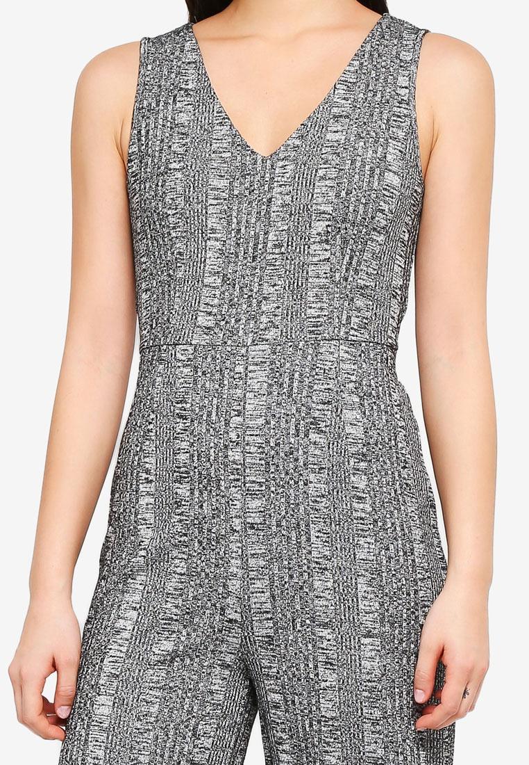 Melange Something Grey Jumpsuit Borrowed Knit Sleeveless xqqgI1HAw