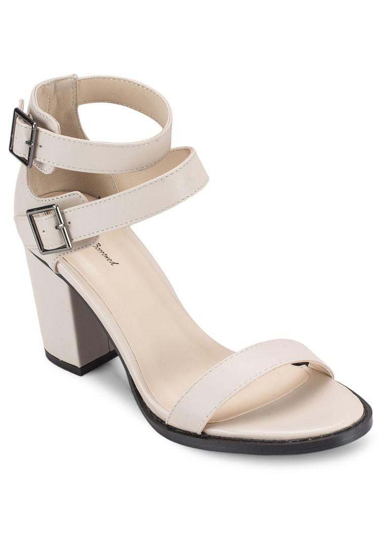 Ankle Cuffed Block Heel Sandals
