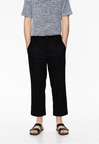 Life8 black Casual Capri Trouser Pant With Elastic Band-02428-Black LI283AA0FSWRSG_1