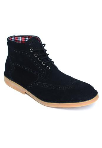 Toods Footwear black Toods Footwear Derby Wingtip High - Hitam TO932SH63MFWID_1