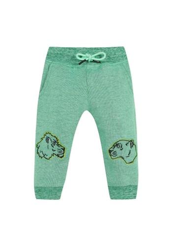 KENZO KIDS green KENZO BABY BOYS LONG PANTS 9EFA2KA747ED36GS_1