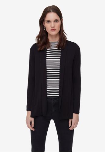 OVS black Long Knit Cardigan 57E7CAA83D4D38GS_1