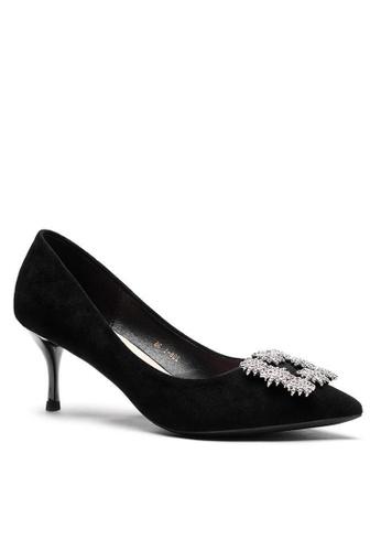 Twenty Eight Shoes 6.5CM 尖頭猄布中踭鞋208-51 ECCF1SHD687123GS_1