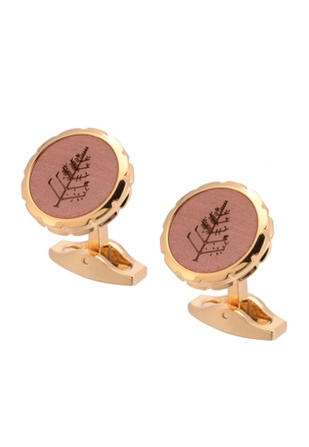 Kings Collection gold Redwood Tree Cufflinks (KC10028b) 3540AACBA8325EGS_1
