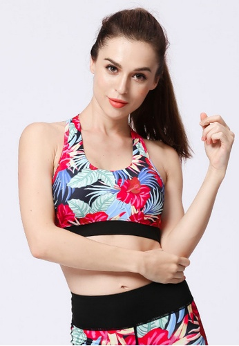 B-Code red ZYG3016-Lady Quick Drying Running Fitness Yoga Sports Bra -Red DB2C2US8EDE2A4GS_1