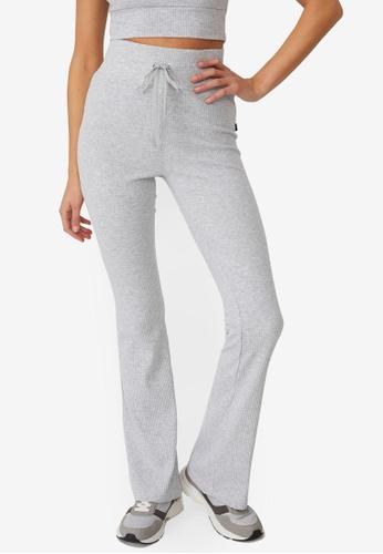 Cotton On Body grey Lifestyle Rib Flare Pants BF922AA2C1EAF8GS_1