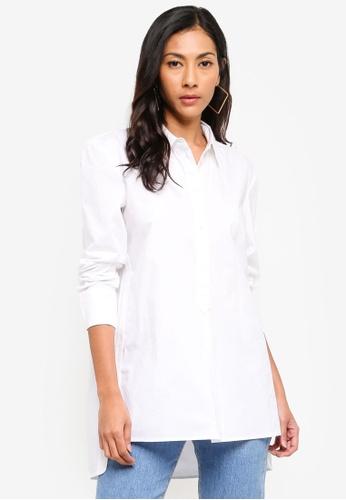 ESPRIT white Woven Long Sleeve Blouse A5B65AAFFDF073GS_1