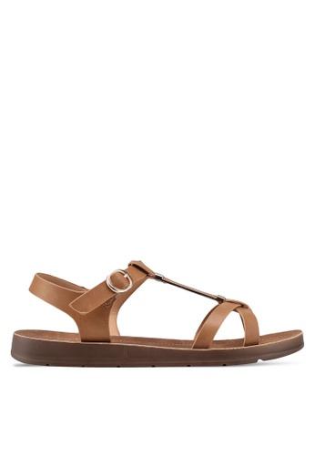 Bata 褐色 休閒繞帶涼鞋 FB52ESH8226684GS_1