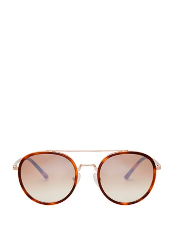 Carin brown and orange and multi Romy C4 Sunglasses 41220GL3053290GS_1