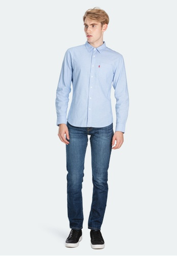 Levi's blue Levi's Slim Fit Sunset One Pocket Shirt 86619-0010 6B8C6AAC7D52D3GS_1