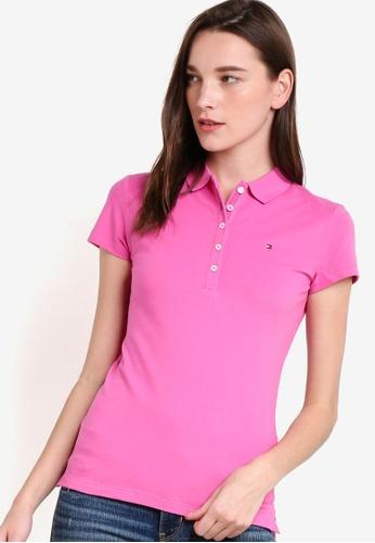 Tommy Hilfiger pink NEW CHIARA STR PQ POLO SS TO729AA42MAJSG_1