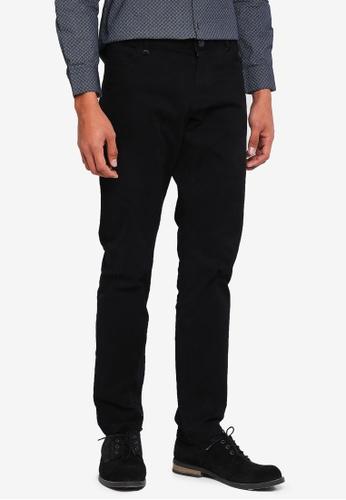 Sisley black Basic Chino Trousers. 9018BAAE9CDDD8GS_1