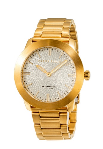 PERRY ELLIS gold Perry Ellis Slim Line Unisex Gold IP 42mm Quartz Stainless Steel Watch 07010-02 480AAACFE465A6GS_1