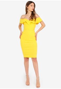a28a04084f4f 16% OFF Vesper Annalise Bardot Frill Dress S$ 102.90 NOW S$ 86.90 Sizes 6 8  10 12 14