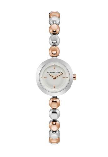 BCBG silver BCBGMAXAZRIA Rose Gold and Silver Watch E12FDAC92183E7GS_1