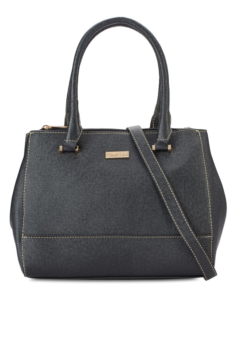Saffiano Convertible Shoulder Bag