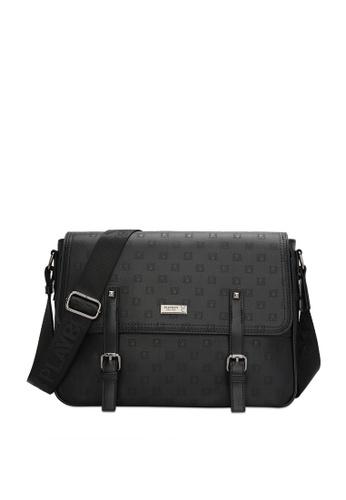 Playboy black Faux Leather Sling Bag 2F9E6AC0AF804EGS_1