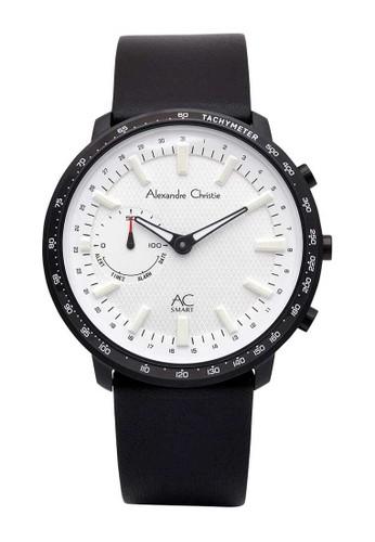 Alexandre Christie black Alexandre Christie Jam Tangan Pria AC SMART - Black White - Leather Strap - S001 MFLIPSL E9743ACA11E001GS_1