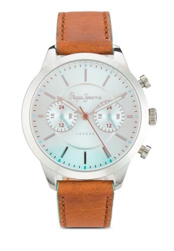R2351121504esprit暢貨中心 Meg 三指針皮革女錶, 錶類, 飾品配件